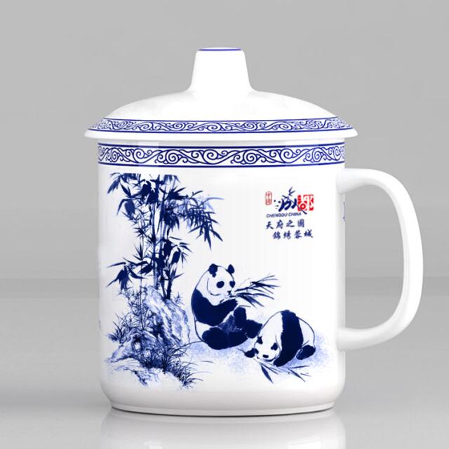 大熊猫办公水杯 纪念德赢体育vwin