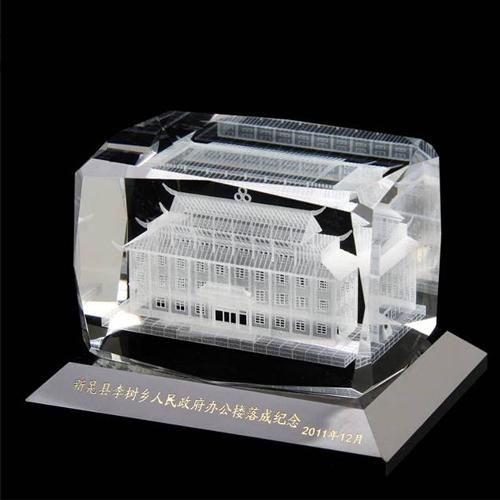 公司大楼模型水晶摆件定做
