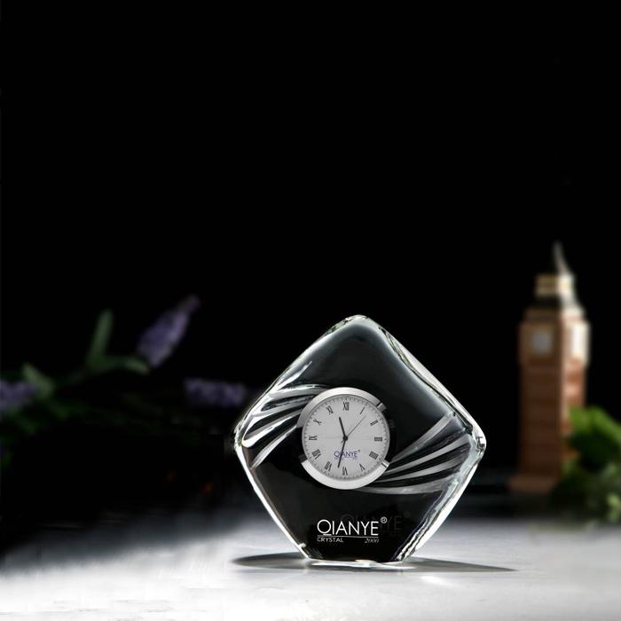水晶纪念台座摆件