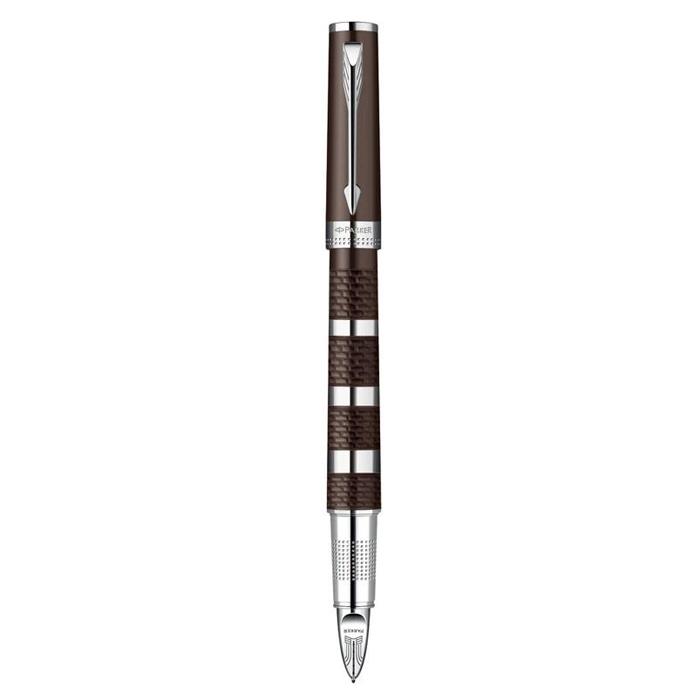 派克精英紫砂褐银环超滑笔