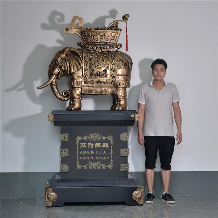 2.2米大象摆件吉祥如意寓意摆件